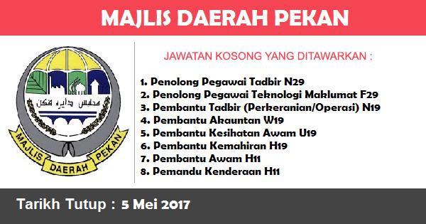 Jawatan Kosong di Majlis Daerah Pekan