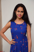 Pallavi Dora Actress in Sleeveless Blue Short dress at Prema Entha Madhuram Priyuraalu Antha Katinam teaser launch 042.jpg
