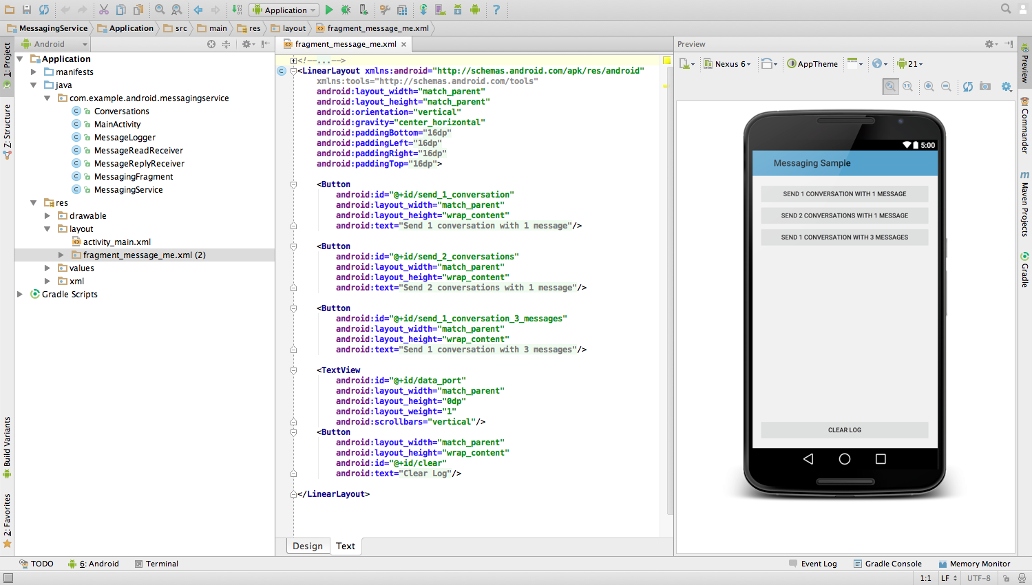 android studio example project