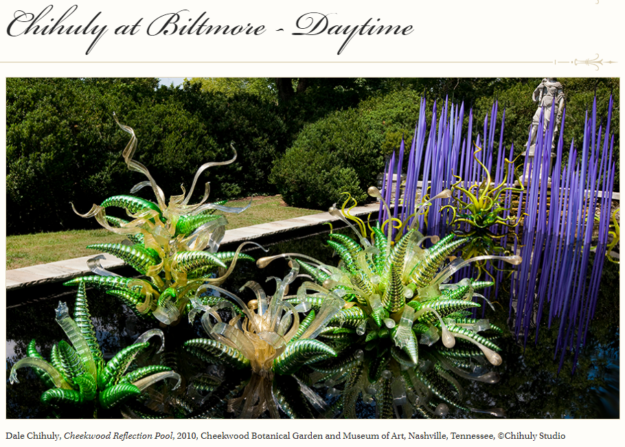 All in the Detail: the biltmore gardens host chihuly
