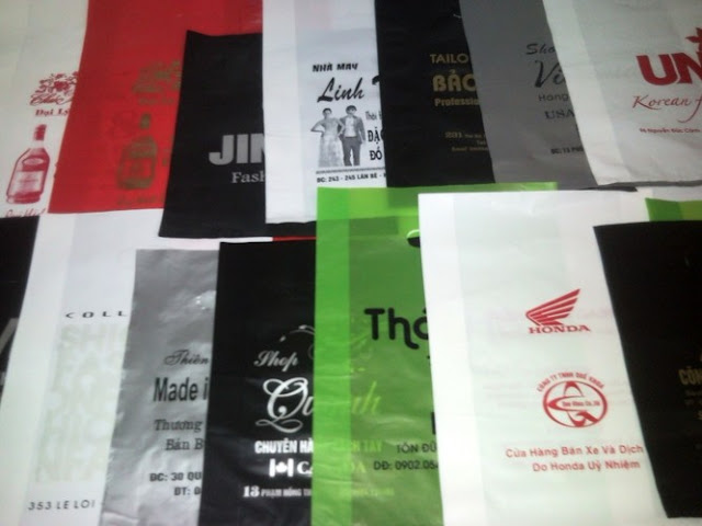 In logo công ty lên các mặt hàng bao bì - Thiết kế in logo lên mọi chất liệu tại Hà Nội, in hồng hạc