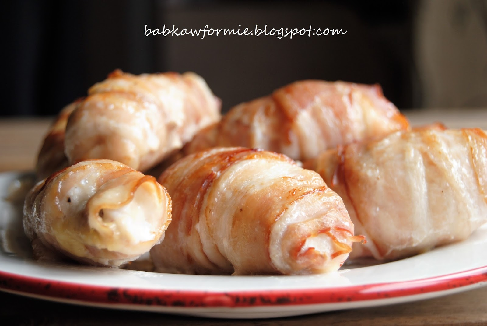 piersi kurczaka zawijane w boczku babkawformie.blogspot.com