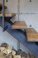 Ideas para ahorrar espacio debajo de la escalera leña