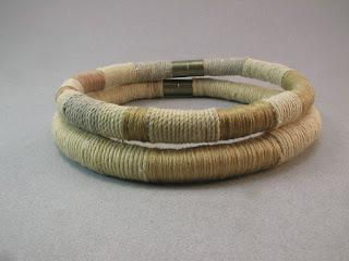 tribal inspired design soft fiber necking choker style necklace
