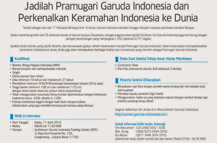 Info Career Garuda Indonesia