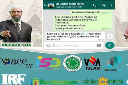 Dahsyat!! Kunjungi Indonesia Maret 2017, Dr Zakir Naik Minta Disiapkan 10.000 Jamaah