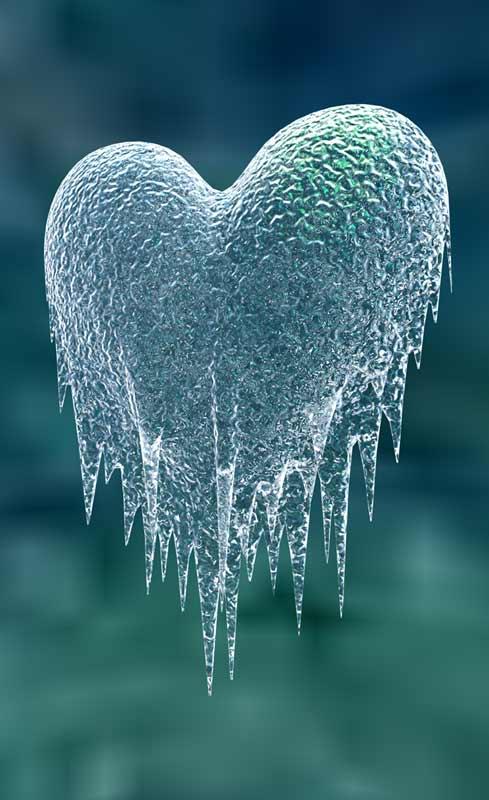 Desamor, corazón helado aceptar