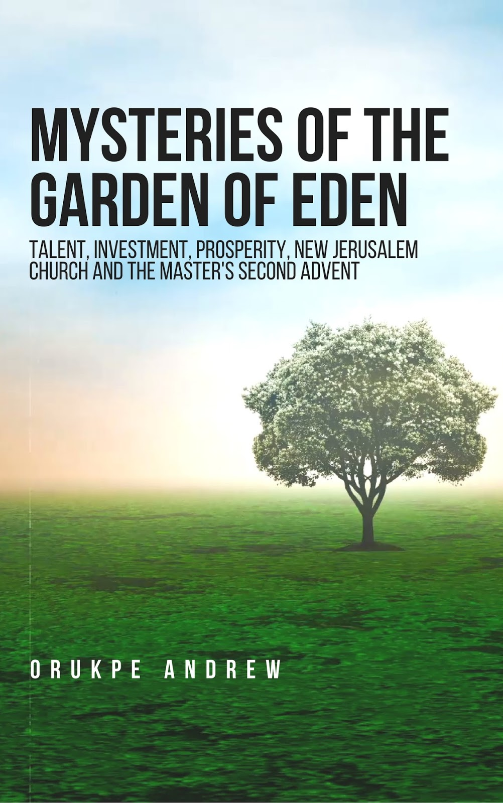 Mysteries of the Garden of Eden: Talent, Investment, Prosperity, New Jerusalem Church and the Master's Second Advent by Orukpe Andrew