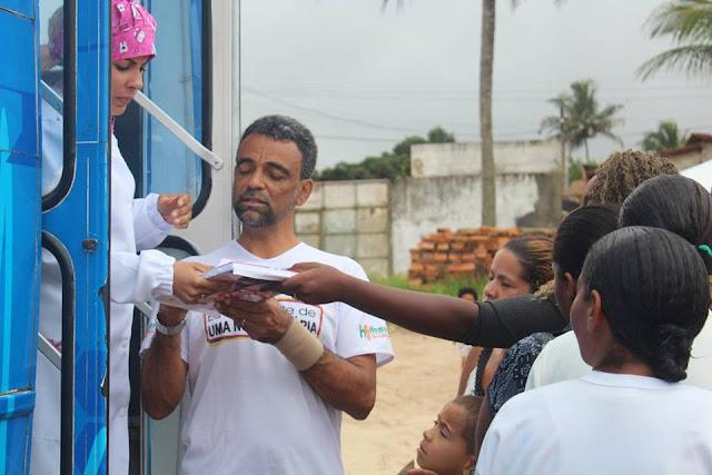 Projeto Social Uma Nova História visitou o Cruzeiro dos Montes em Alagoinhas
