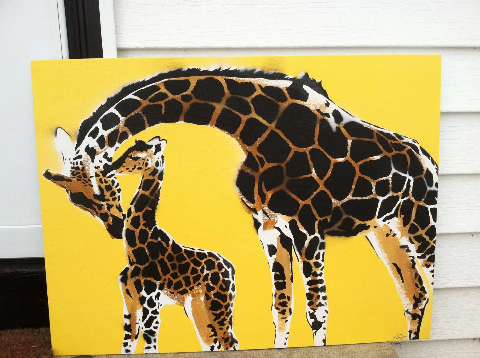 Spicolli Design Giraffe Stencil