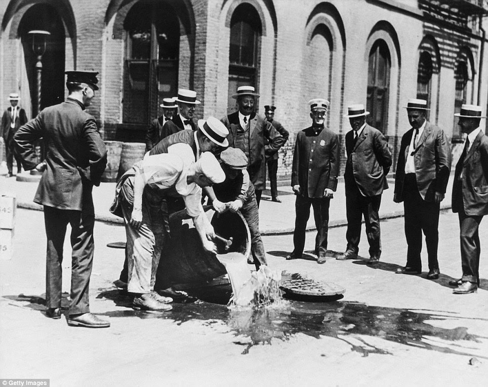 historical pictures of celebrations as prohibition finally
