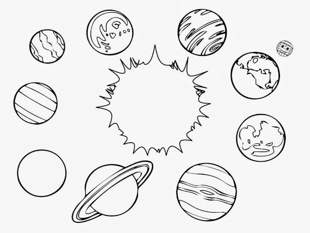 coloriage planètes du système solaire