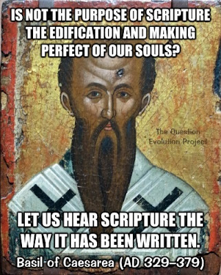 Basil of Caesarea defends Scripture