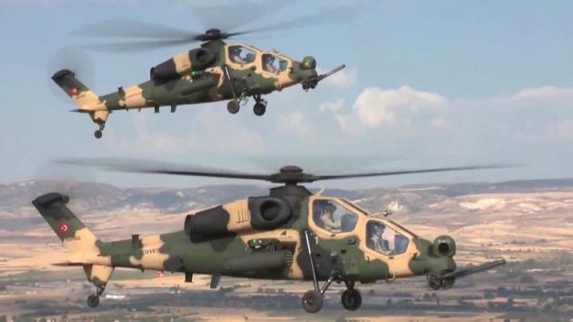 Μεταστάθμευση τουρκικών επιθετικών ελικοπτέρων στην Ανατολική Θράκη