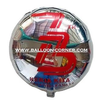 Balon Foil Bulat 73 TAHUN KERJA KITA PRESTASI BANGSA (Special Edition)