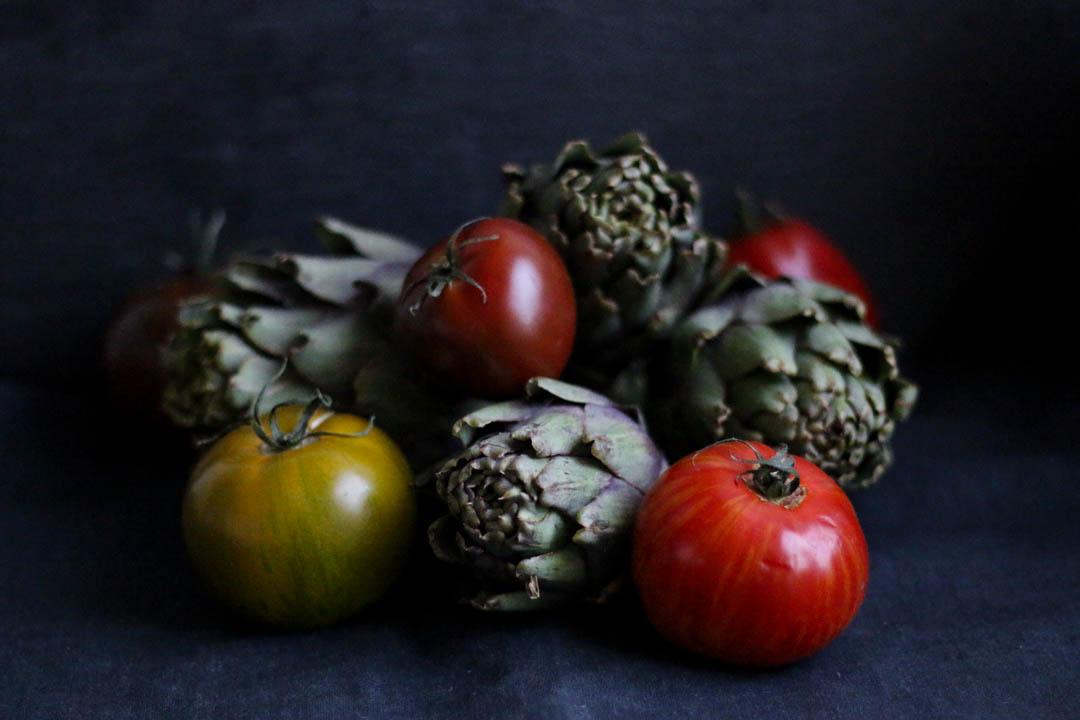Artischocken-Tomaten-Sauce, Artischocken, Tomaten, Fleurcoquet