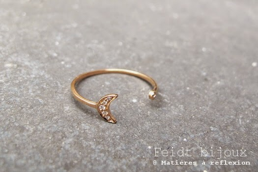 Bague or rose et diamant Feidt bijoux