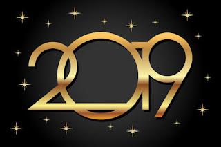 Happy New Year Logo 2019 68