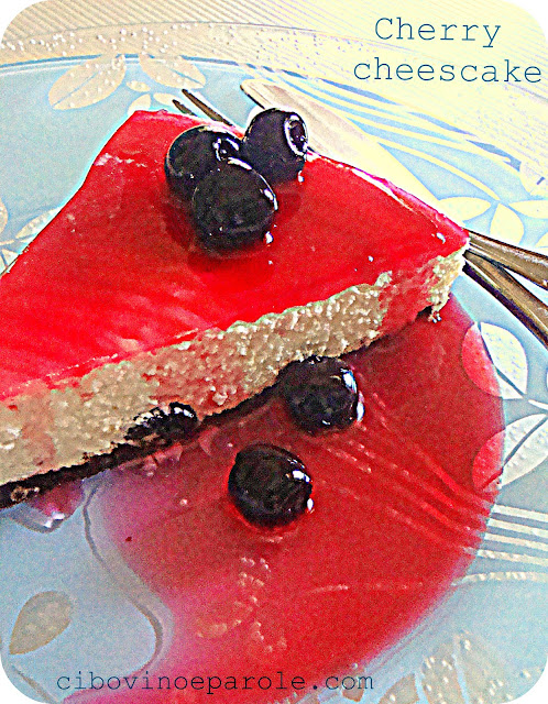 Cherry cheesecake ricetta