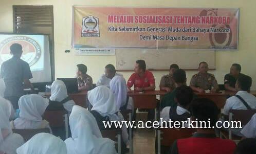 Polres Aceh Singkil Sosialisasikan Bahaya Narkoba ke Pelajar