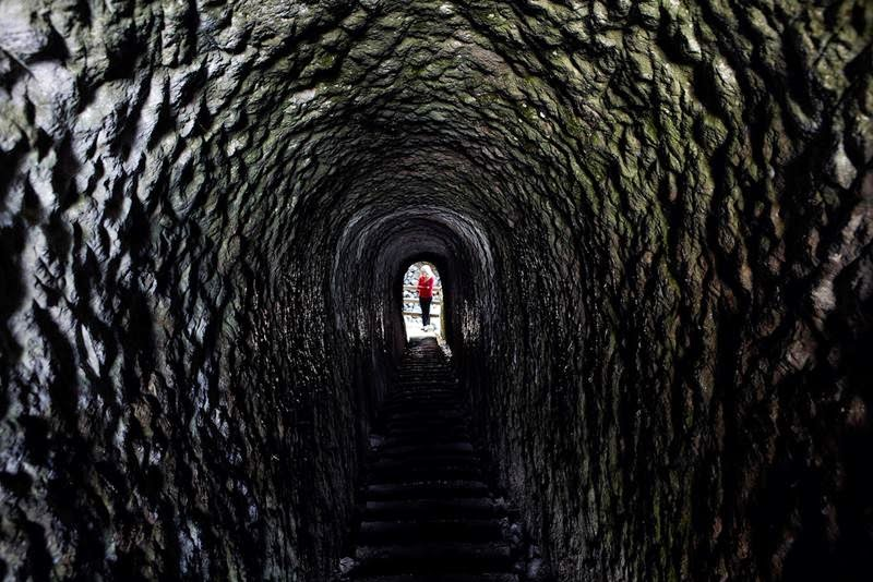 Father dig tunnel in the memory of his youngest daughter on the Beach of Dunedin, New Zealand.