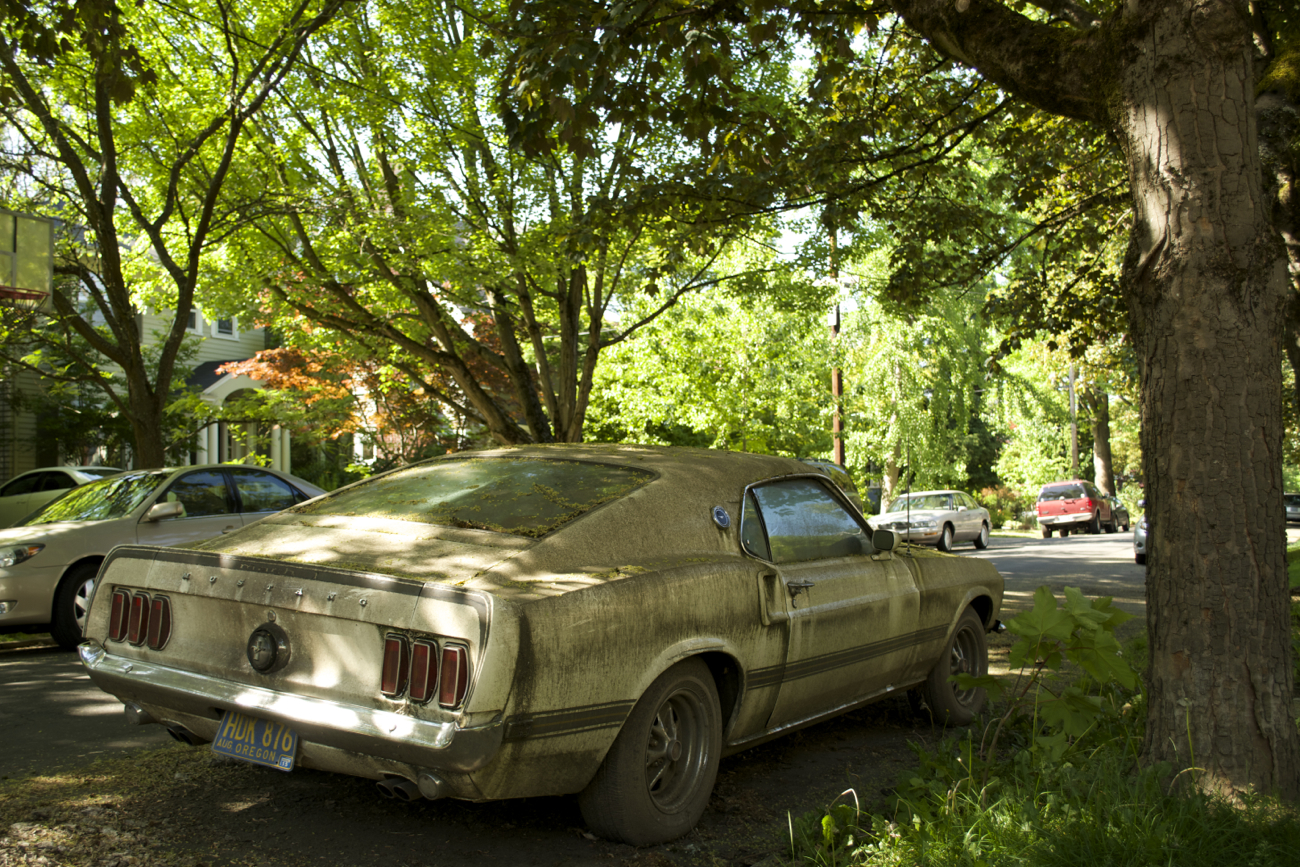 Old Parked Cars 1969 Ford Mustang Mach 1 2 Fastback May 21 2016