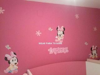 Habitación decorada con Minnie