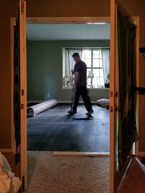 removing carpet and pad