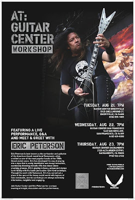 horns up rocks testament 39 s eric peterson dean guitars announce guitar center workshops. Black Bedroom Furniture Sets. Home Design Ideas