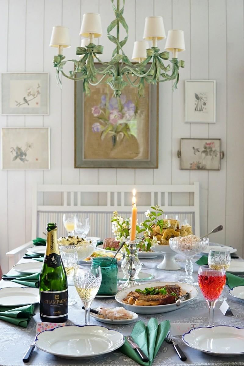 juhannus, juhannuspöytä, juhlapöytä