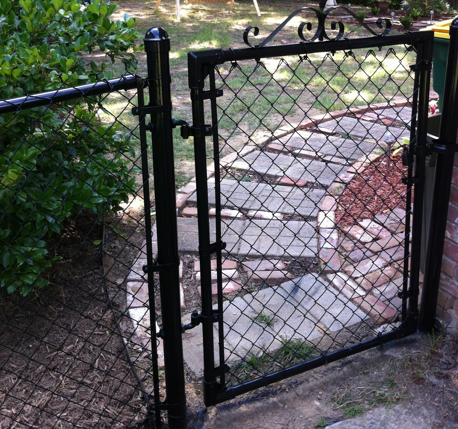 Gate Chain Link Painted Black Jpg 1 600 215 1 497 Pixels
