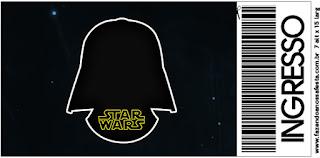 Star Wars Free Printable Ticket Invitations.