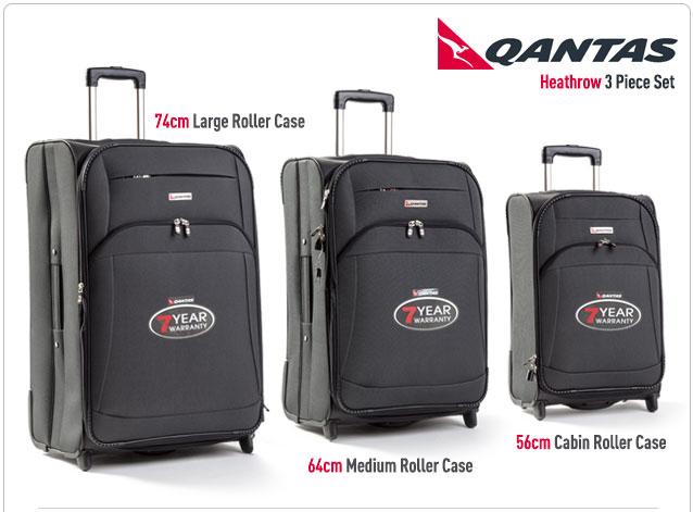 Qantas Heathrow 3 Piece Luggage Set Images Frompo