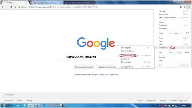 Hapus Riwayat Google Chrome