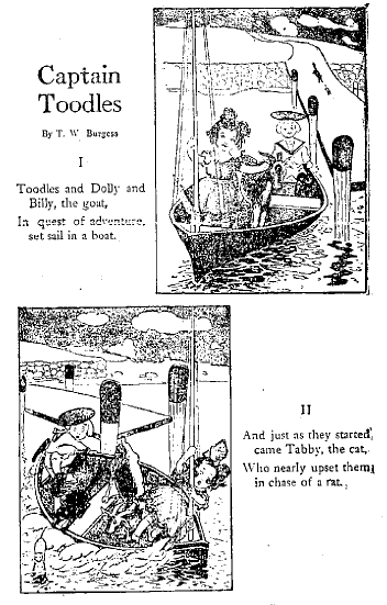 Thornton W. Burgess Research League: Burgess's earliest