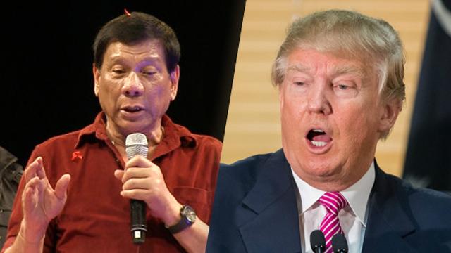 """O presidente filipino, Rodrigo Duterte ofereceu """"calorosas felicitações"""" ao presidente eleito Donald Trump e está ansioso para trabalhar com ele para melhorar as relações entre dois países, um ministro filipino disse na quarta-feira"""