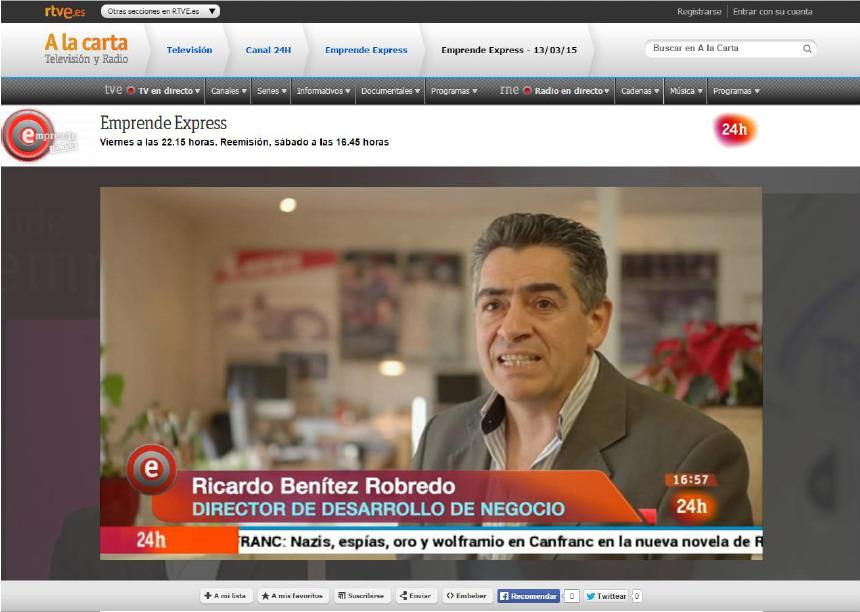 Ctents en Emprende Express TVE Canal 24 horas