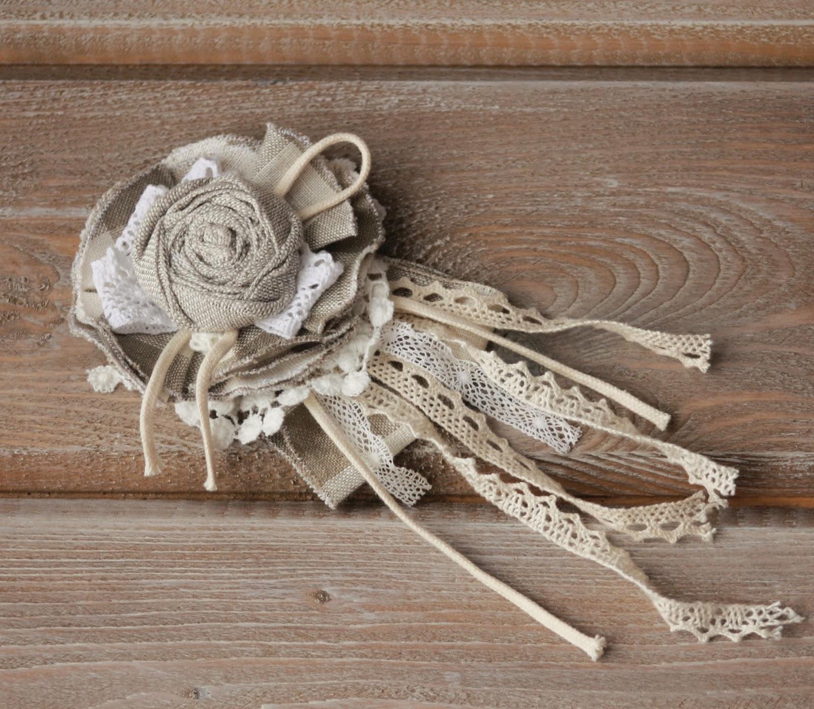 Цветы из ткани бохо