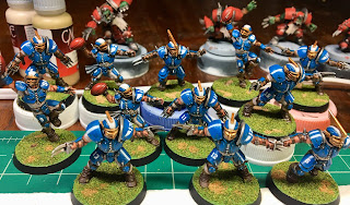 Games Workshop Blood Bowl Humans Speed Painting Army Painter Anti-Shine Matte Varnish GW Reikland Reavers finished
