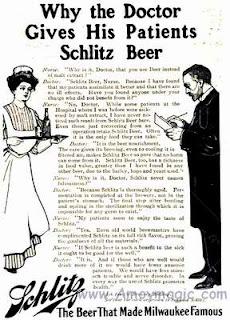 Doctors recommend Schlitz beer