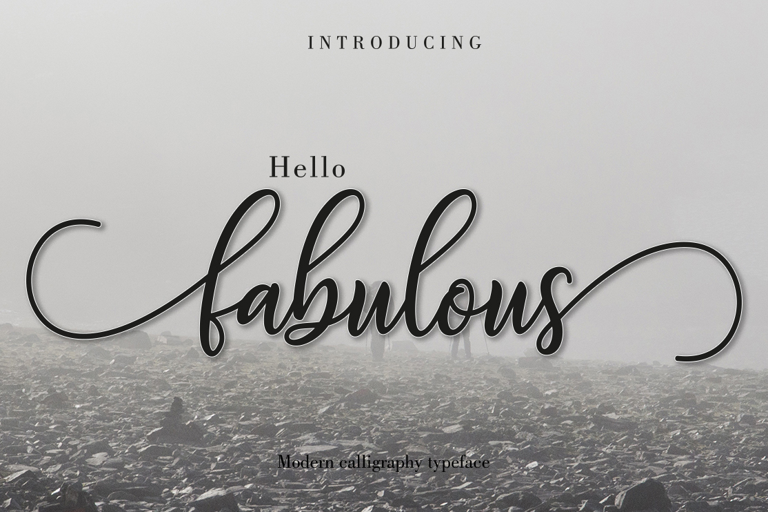 Fabulous modern calligraphy font free download | free script fonts.