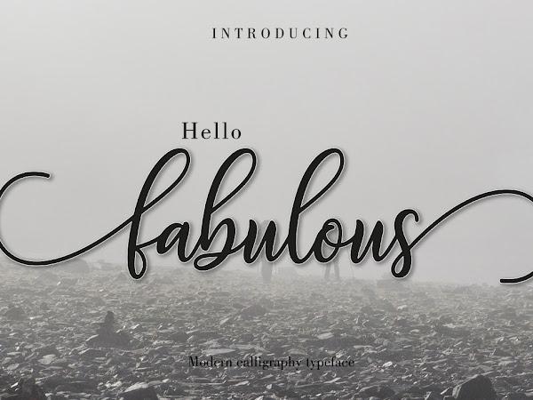 Fabulous Modern Calligraphy Font Free Download