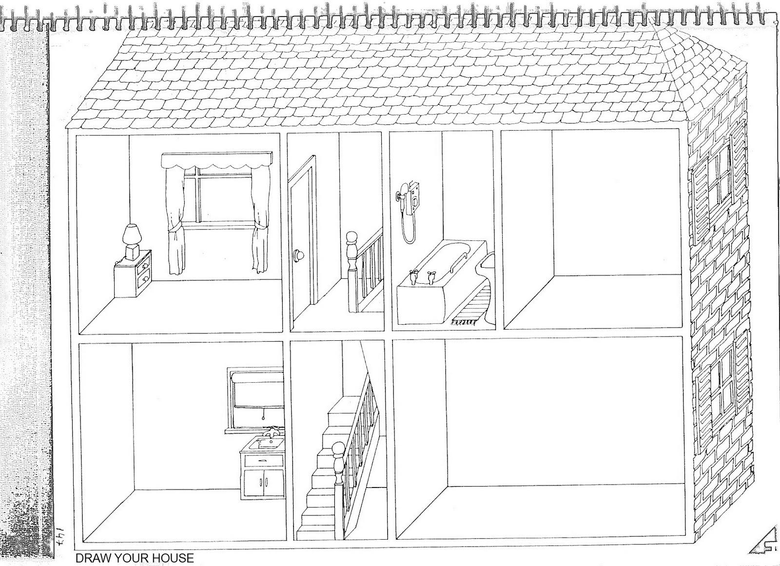 Fichas De Ingles Ficha House 6 Draw Your House