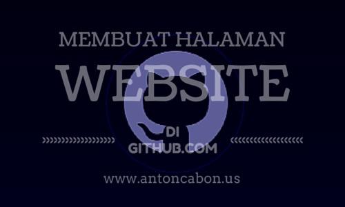 Cara Membuat Halaman Website Di Github.com