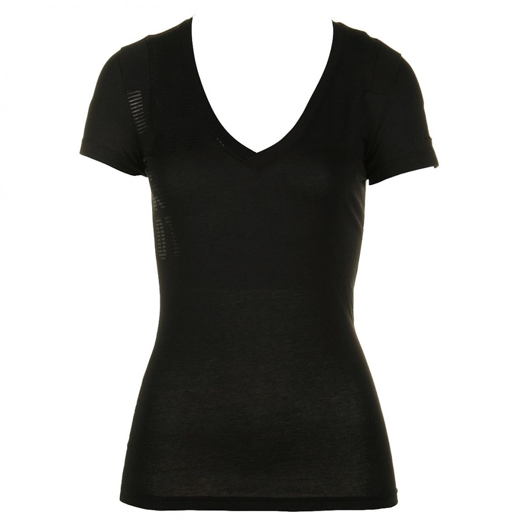black v neck t shirt template -#main