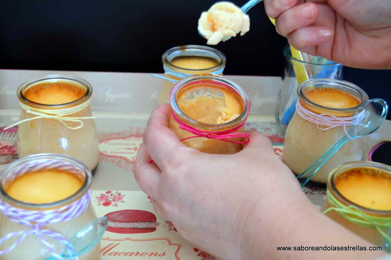 Flan de huevo casero sin lactosa-saboreando las estrellas-