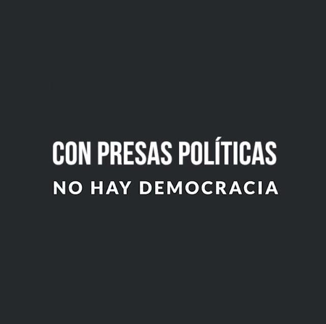 8M: Con presas políticas no hay democracia