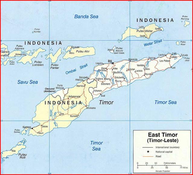 image: East Timor Political Map