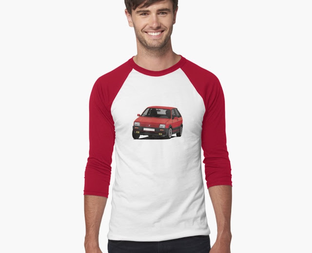 Red vintage SEAT Ibiza SXi illustration - T-shirts