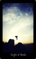 Knight of Wands tarot card image